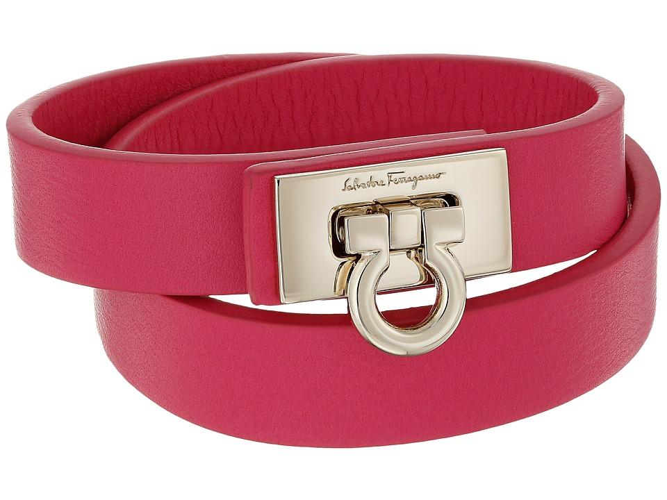Salvatore Ferragamo - 345921 Gancet 2G Bracelet (Framboise/Oro) Bracelet