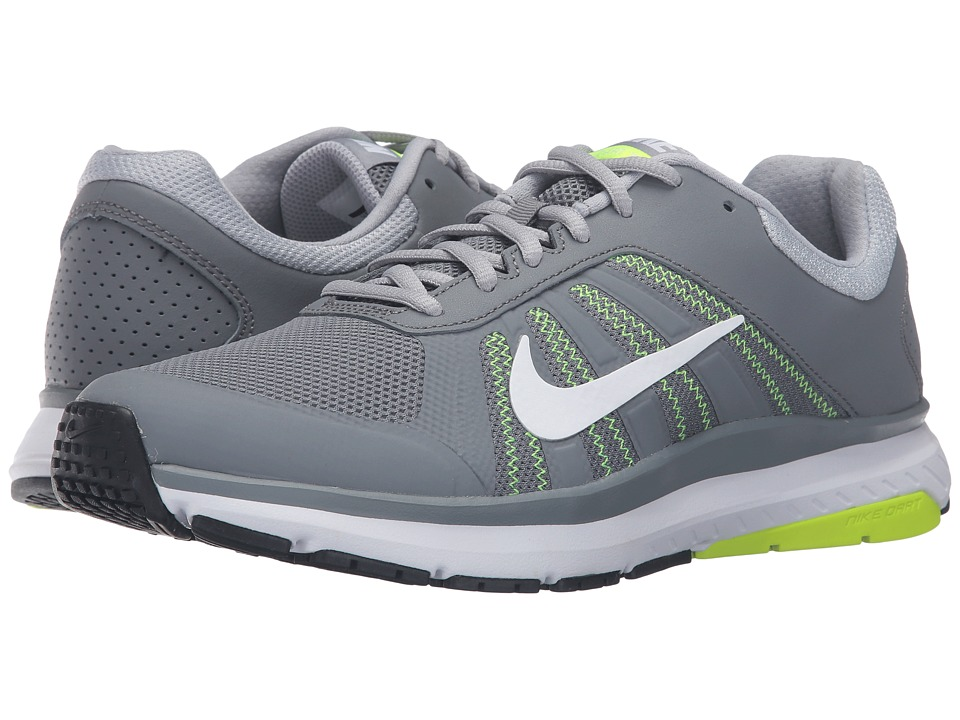 Nike - Dart 12 (Cool Grey/White/Wolf Grey/Volt) Men's Running Shoes