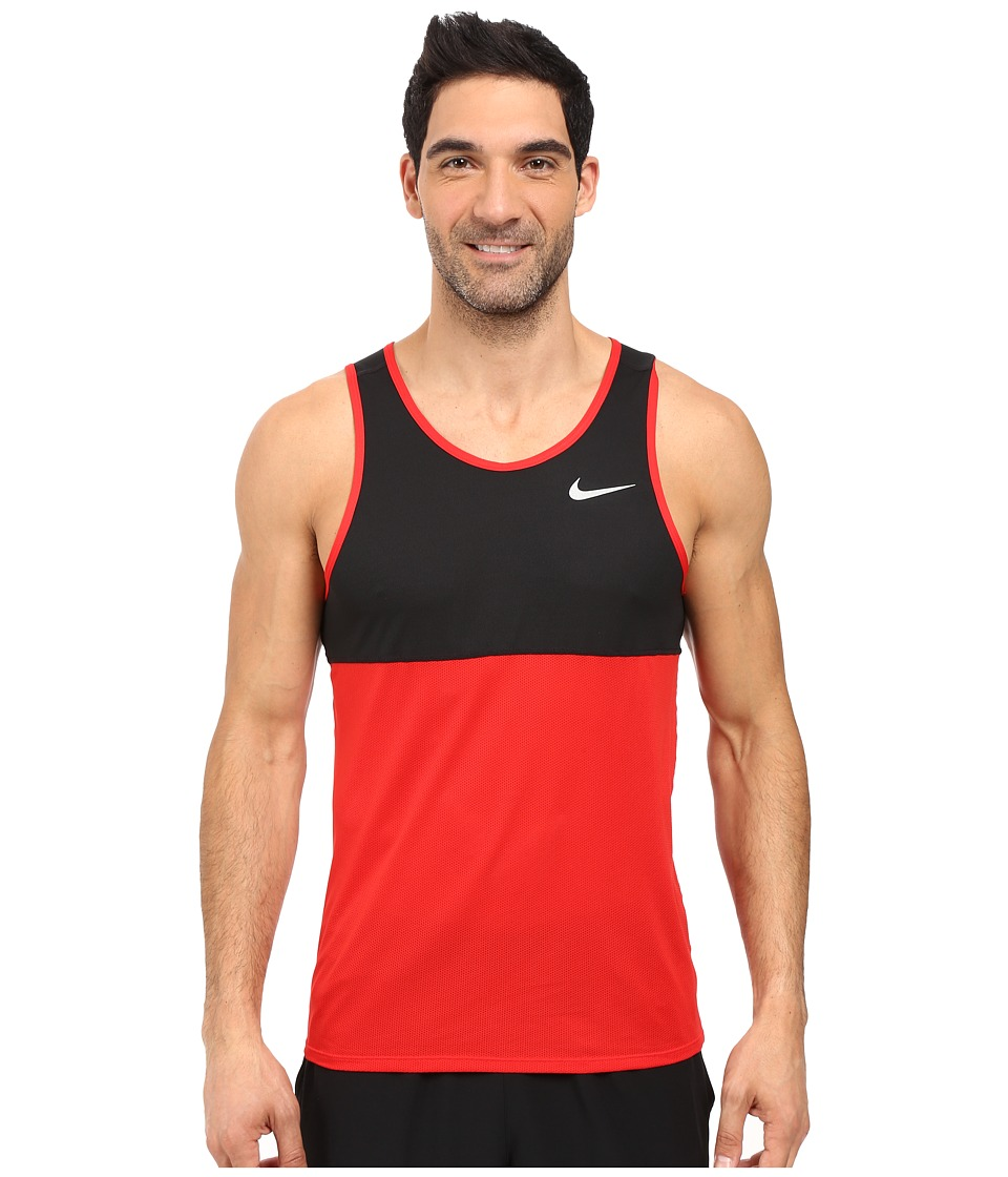 Nike - Dry Running Tank (University Red/Black/University Red/Reflective Silver) Men's Sleeveless