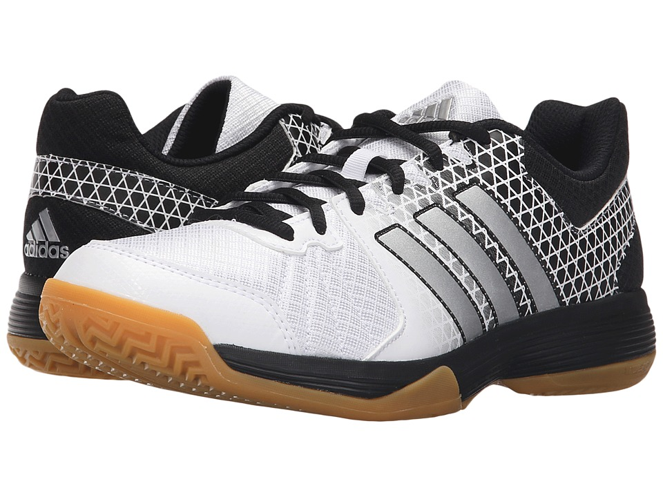 adidas - Ligra 4 (White/Matte Silver/Black) Women's Volleyball Shoes
