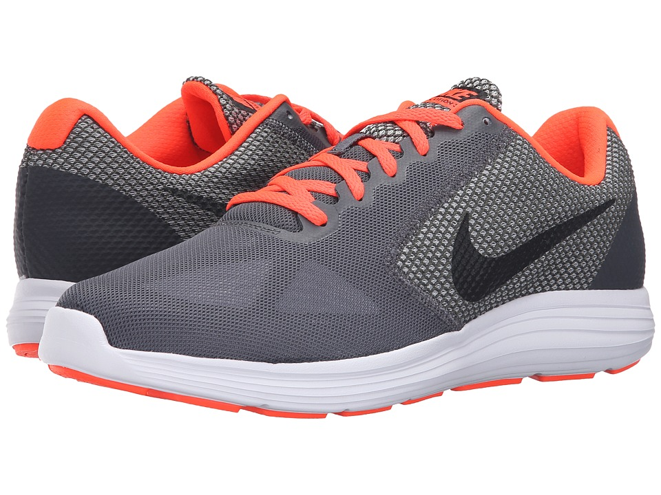 Nike - Revolution 3 (Dark Grey/Black/Total Crimson/Wolf Gray) Men's Running Shoes