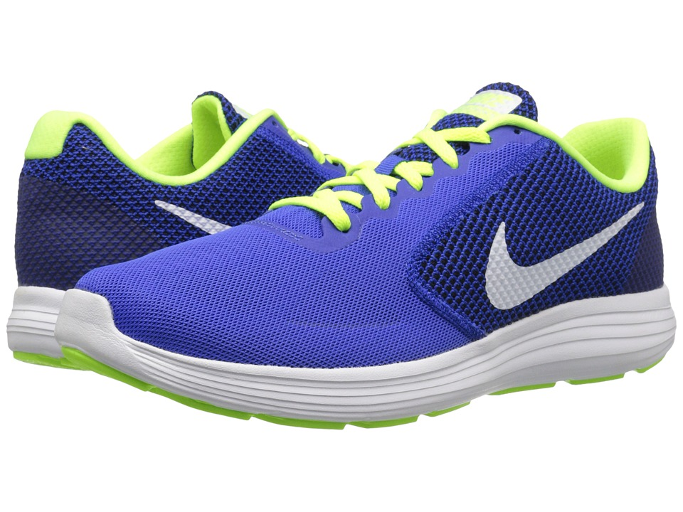 Nike - Revolution 3 (Racer Blue/White/Volt/Black) Men's Running Shoes