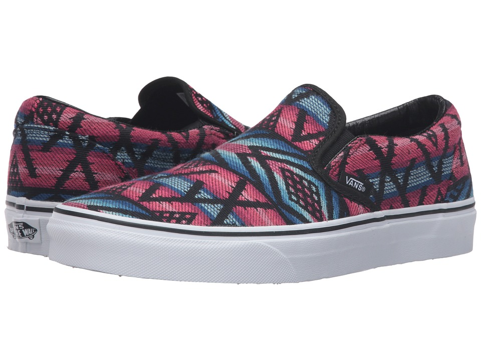 Vans - Classic Slip-On ((Moroccan Geo) Black/True White) Skate Shoes