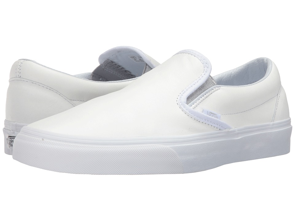 Vans - Classic Slip-On ((Metallic Gore) White/Silver) Skate Shoes