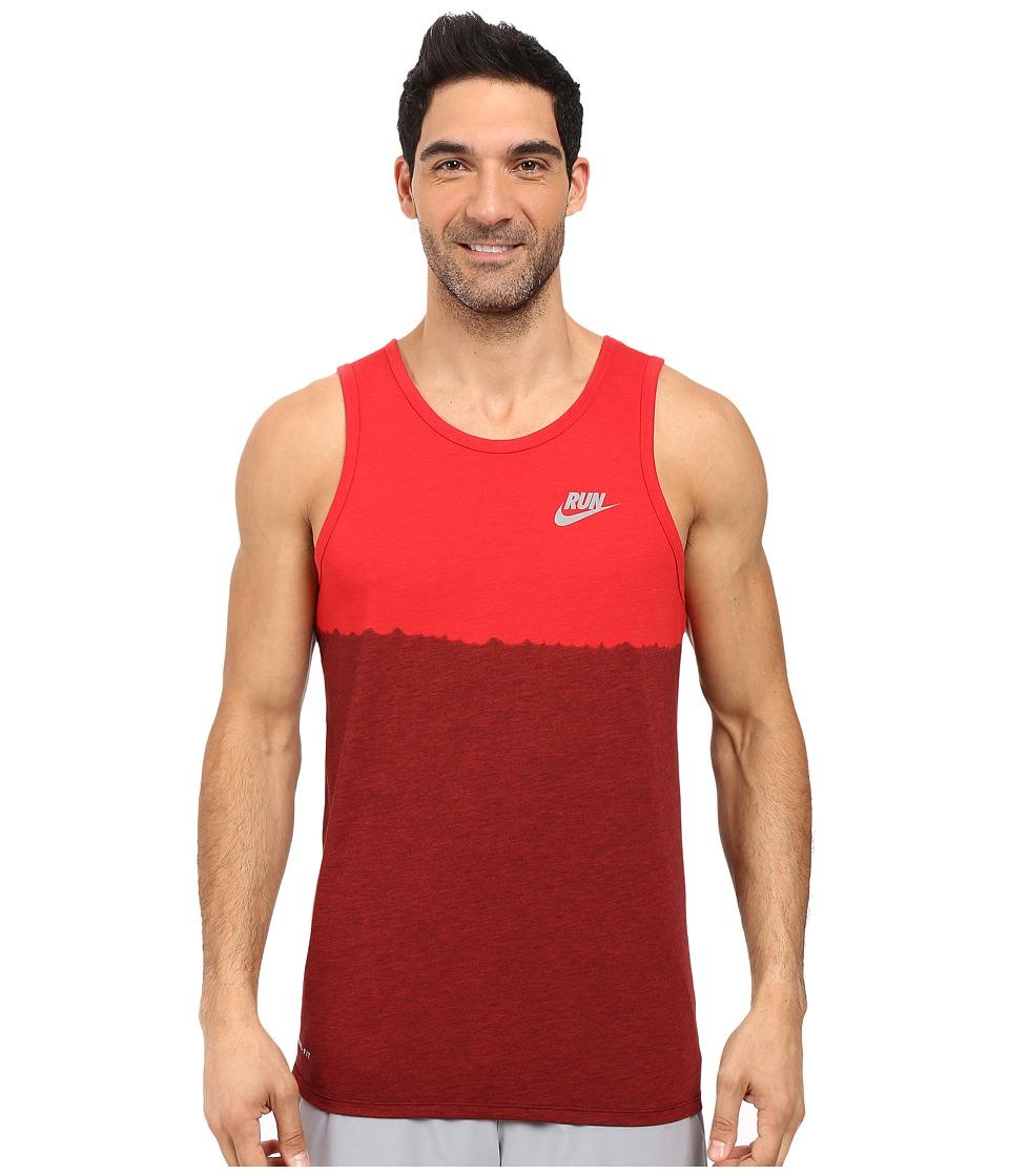 Nike - Running Tank (University Red/Team Red) Men's Sleeveless