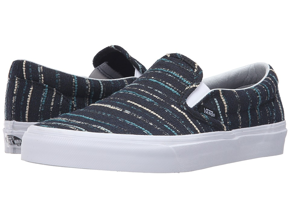 Vans - Classic Slip-On ((Italian Weave) Black/Multi) Skate Shoes