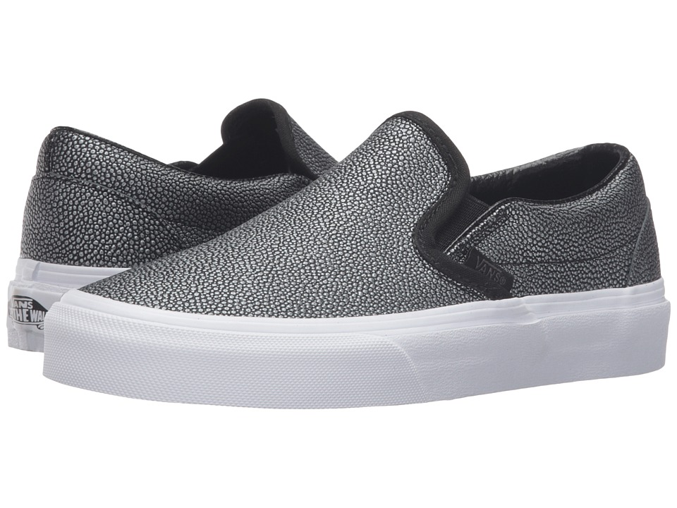 Vans - Classic Slip-On ((Embossed Stingray) Black) Skate Shoes