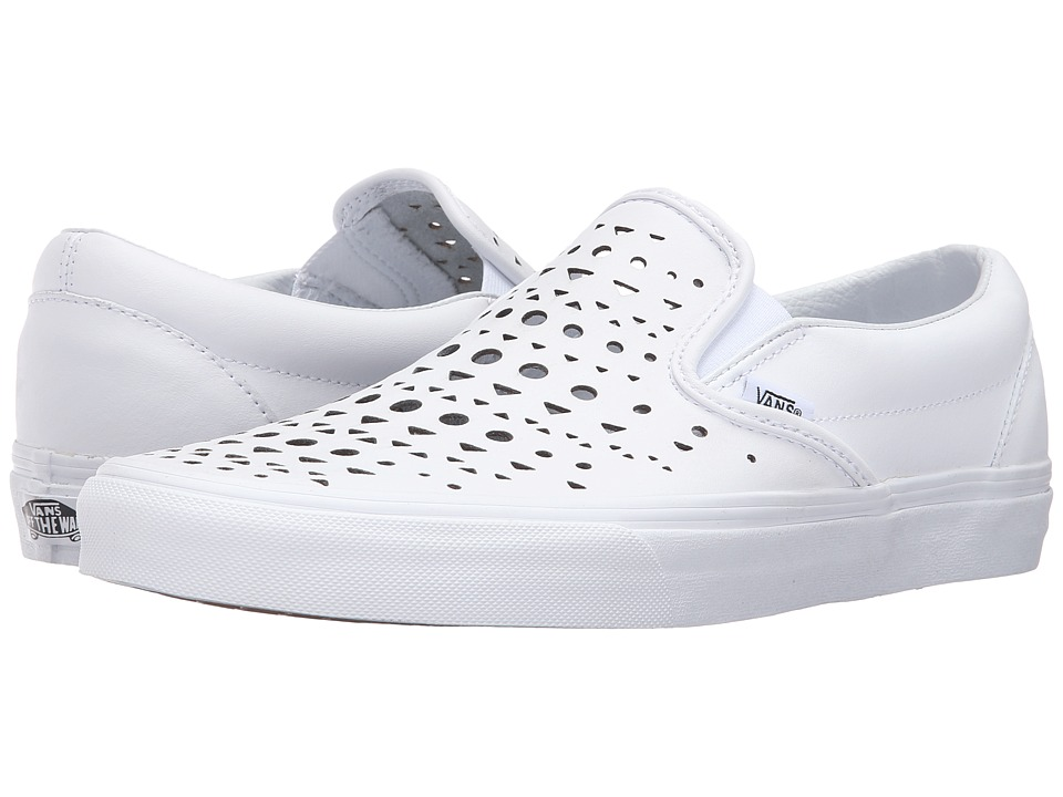 Vans Classic Slip-On ((Cut Out Geo) True White) Skate Shoes
