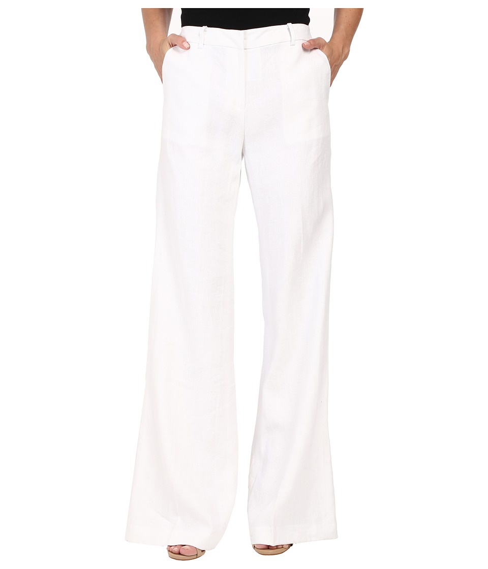 MICHAEL Michael Kors - Stretch Wide Leg with Pickstich (White) Women's Casual Pants