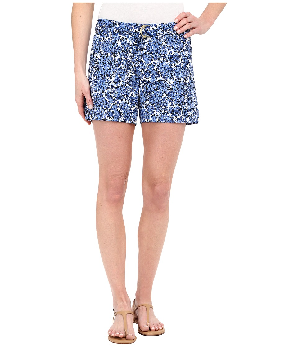 MICHAEL Michael Kors - Printed Midi Shorts (Crew Blue/White) Women's Shorts