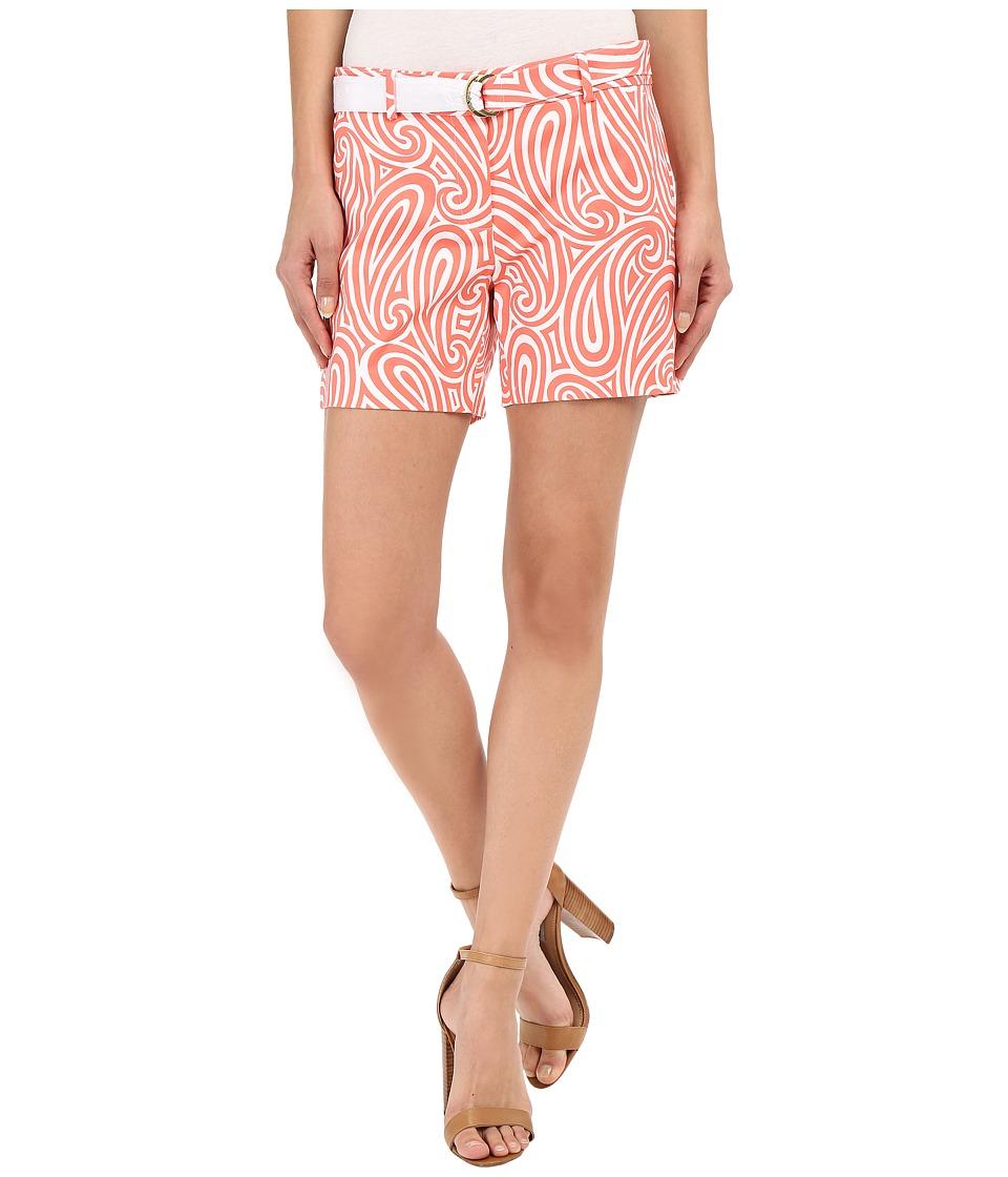 MICHAEL Michael Kors - Printed Midi Shorts (Caribbean Pink/White) Women's Shorts
