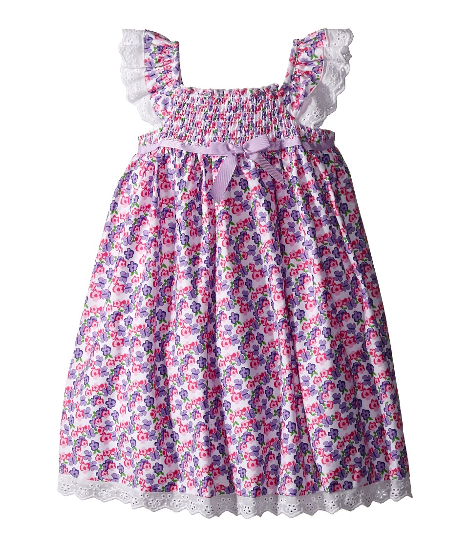 Us Angels - Cotton Poplin Eyelet Empire Smock Bodice Dress (Toddler/Little Kids) (Lavender) Girl's Dress