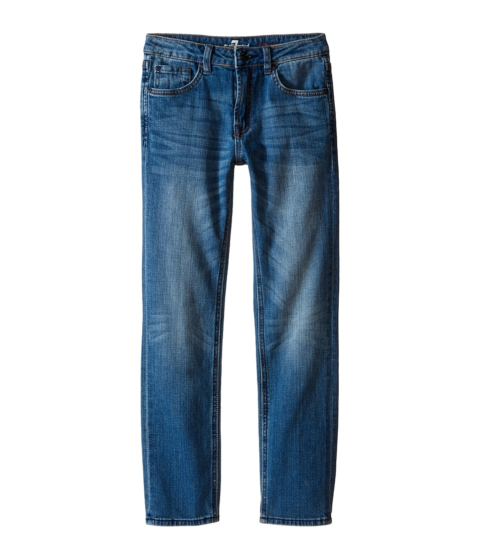 7 For All Mankind Kids - The Slimmy Slim Straight Five-Pocket Stretch Denim Jeans in Airblue (Big Kids) (Airblue) Boy's Jeans