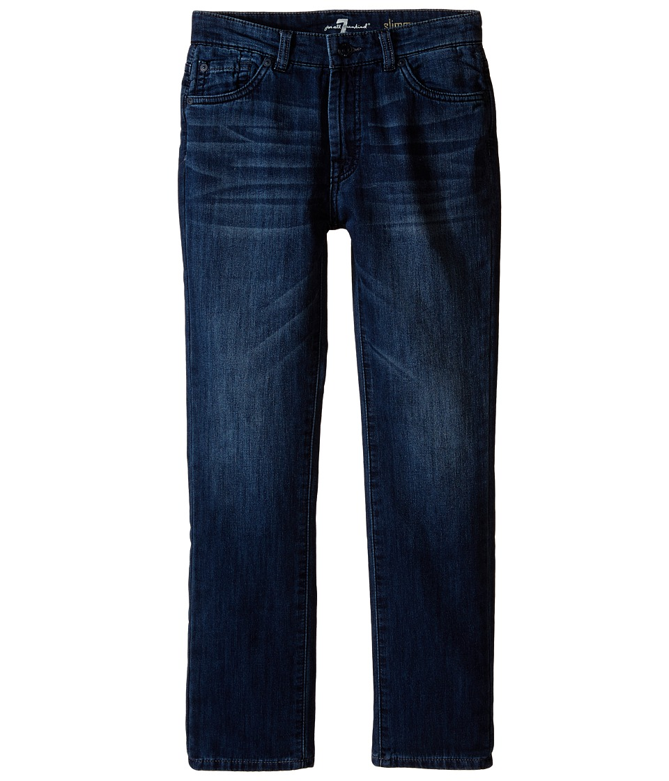 7 For All Mankind Kids - The Slimmy Slim Straight Five-Pocket Knit Stretch Denim Jeans in Triumph (Big Kids) (Triumph) Boy's Jeans