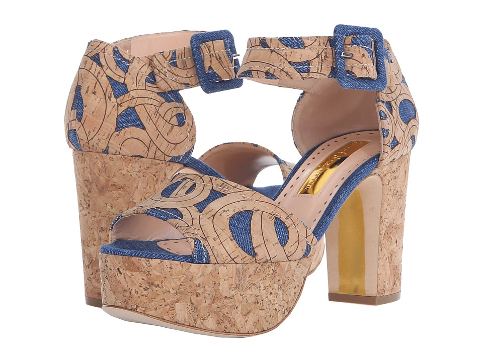 Rupert Sanderson - Logie (Denim Fabric) Women's Shoes