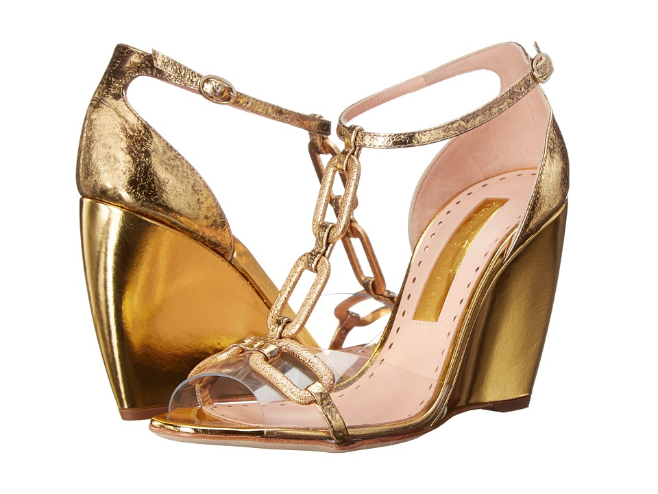 Rupert Sanderson - Chance (PVC/Gold Chain) Women's Shoes