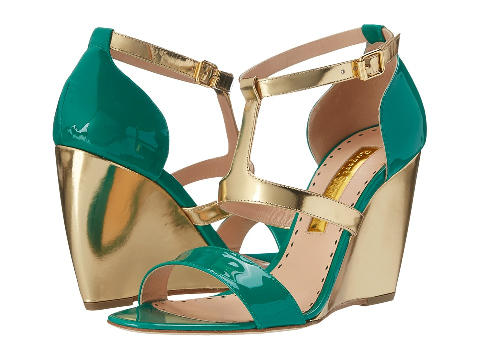 Rupert Sanderson - Sindy (Green Patent Calf) Women's Shoes