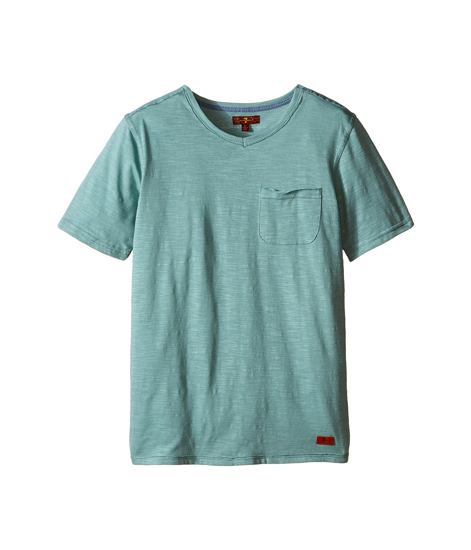 7 For All Mankind Kids - Short Sleeve Slub Jersey V-Neck Pocket T-Shirt (Big Kids) (Trellis) Boy's Short Sleeve Pullover
