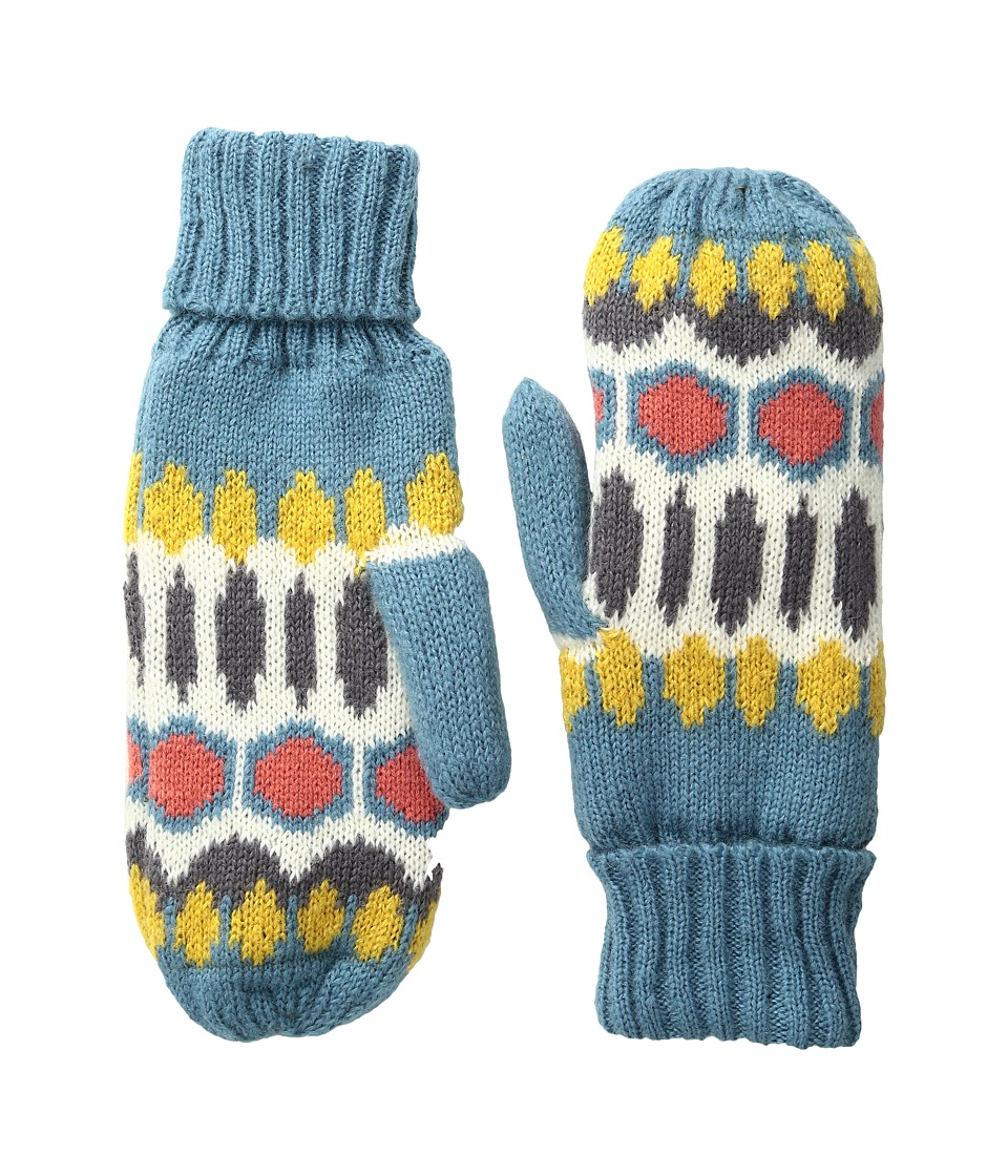 Pistil Flutter Mitten (Blue) Wool Gloves