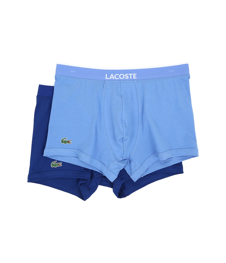 Lacoste - Colours 2-Pack Trunk (Light Blue/Periwinkle) Men's Underwear