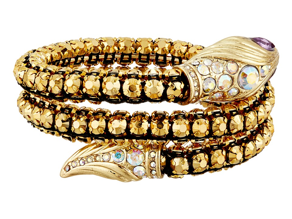 Betsey Johnson - Luminous Betsey Snake Coil Bracelet (Gold) Bracelet