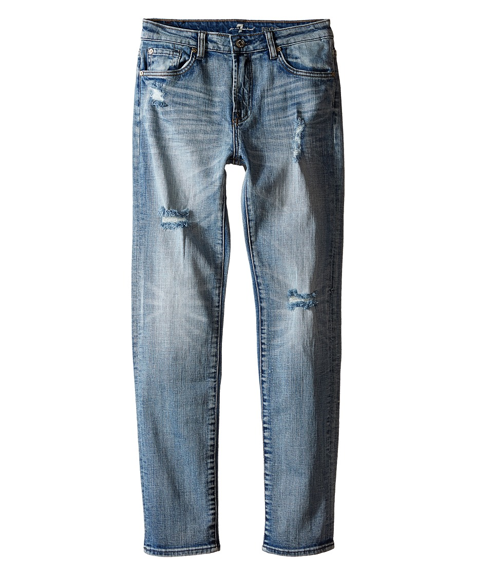 7 For All Mankind Kids - The Paxtyn Skinniest Tapered Five-Pocket Stretch Denim Jeans in Ojai Blue (Big Kids) (Ojai Blue) Boy's Jeans