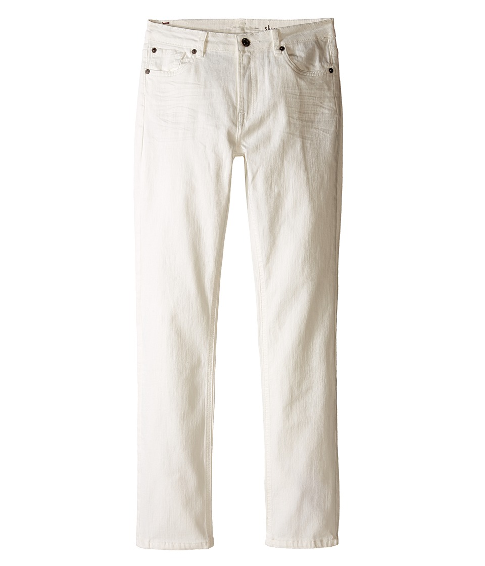7 For All Mankind Kids - The Slimmy Slim Straight Five-Pocket Denim Jeans in Ecru (Big Kids) (Ecru) Boy's Jeans