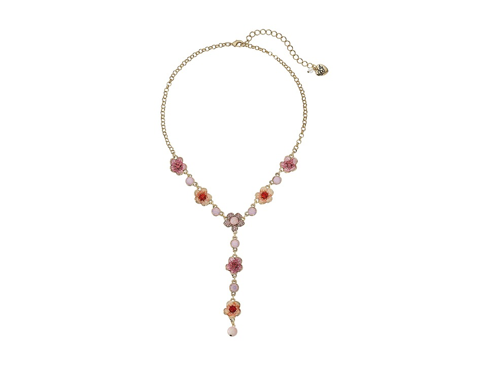 Betsey Johnson - Memoirs of Betsey Flower Y-Necklace (Multi) Necklace