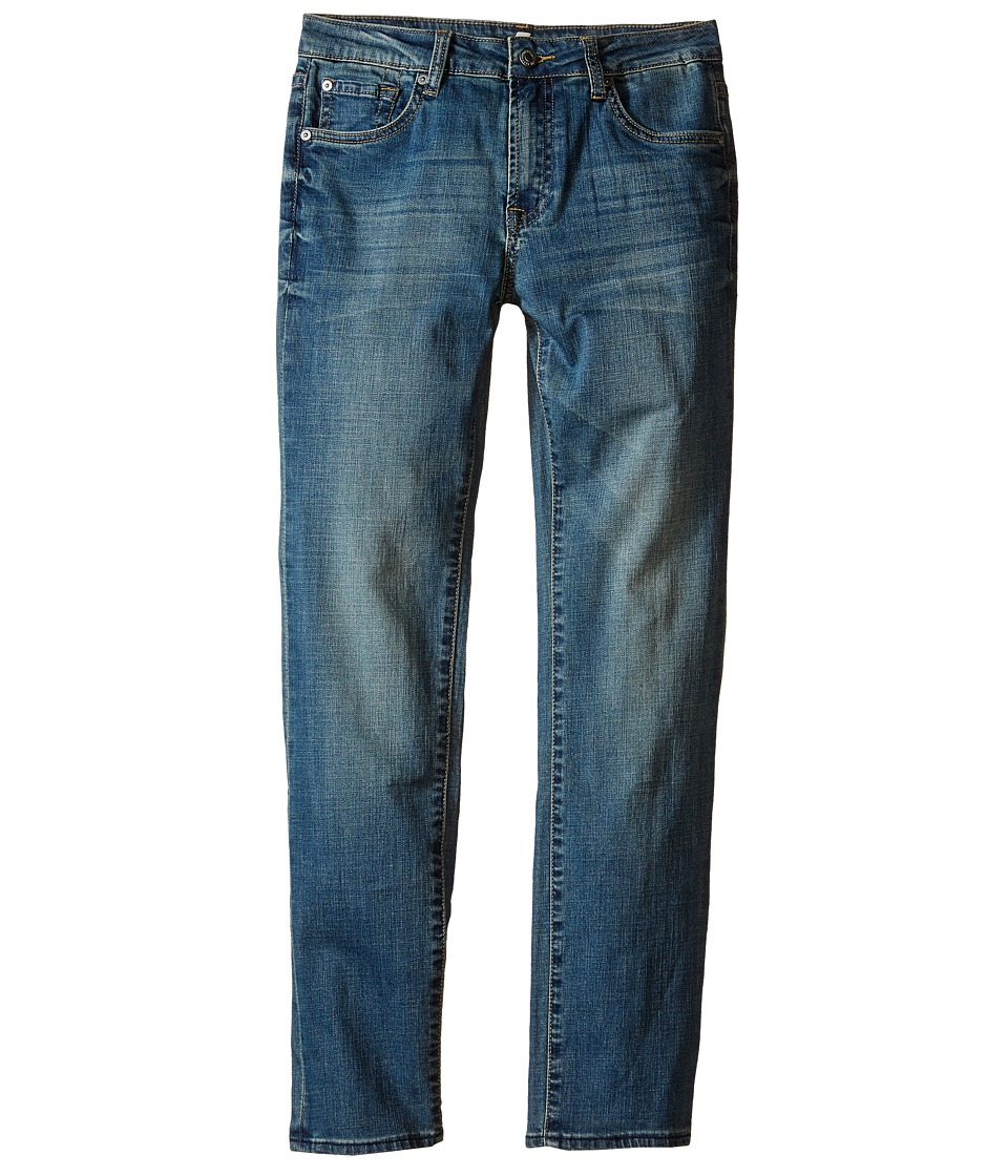 7 For All Mankind Kids - The Slimmy Slim Straight Five-Pocket Denim Jeans in Barbados Blue (Big Kids) (Barbados Blue) Boy's Jeans