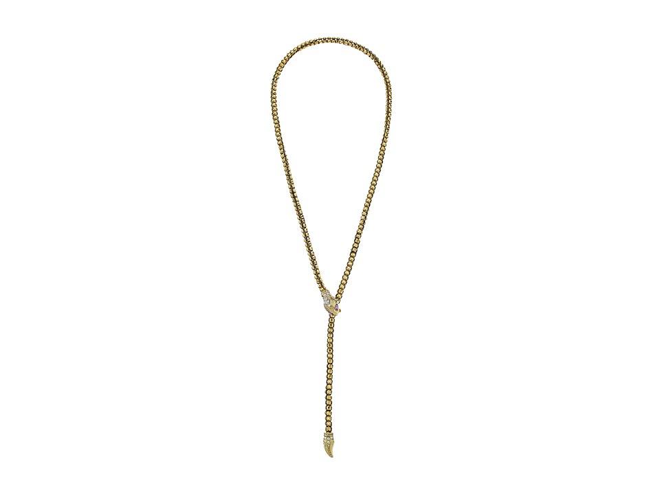 Betsey Johnson - Luminous Betsey Snake Lariat Necklace (Gold) Necklace