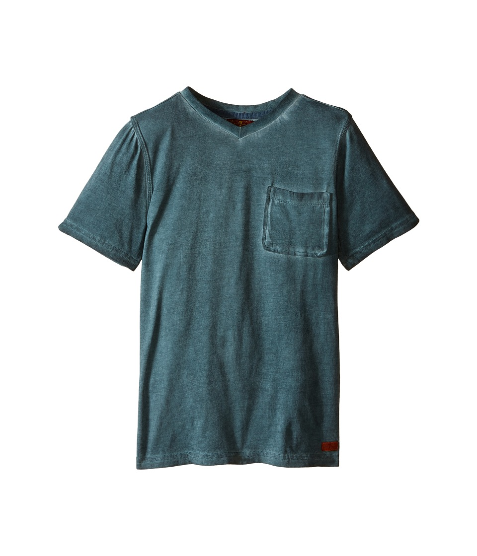 7 For All Mankind Kids - Mineral Wash V-Neck Knit Jersey Pocket T-Shirt (Big Kids) (Trellis) Boy's T Shirt