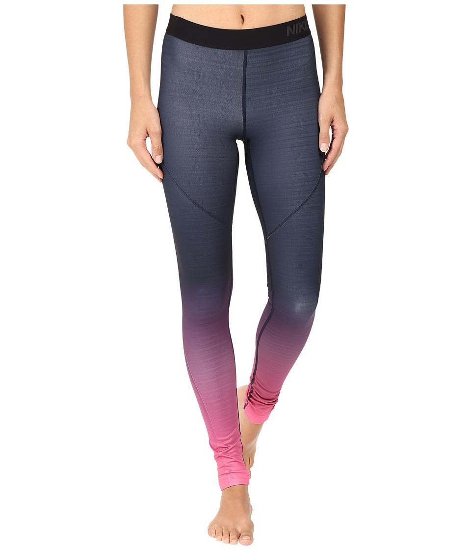 Nike - Pro Hyperwarm Training Tight (Hyper Pink/Obsidian/Black/Black) Women's Workout
