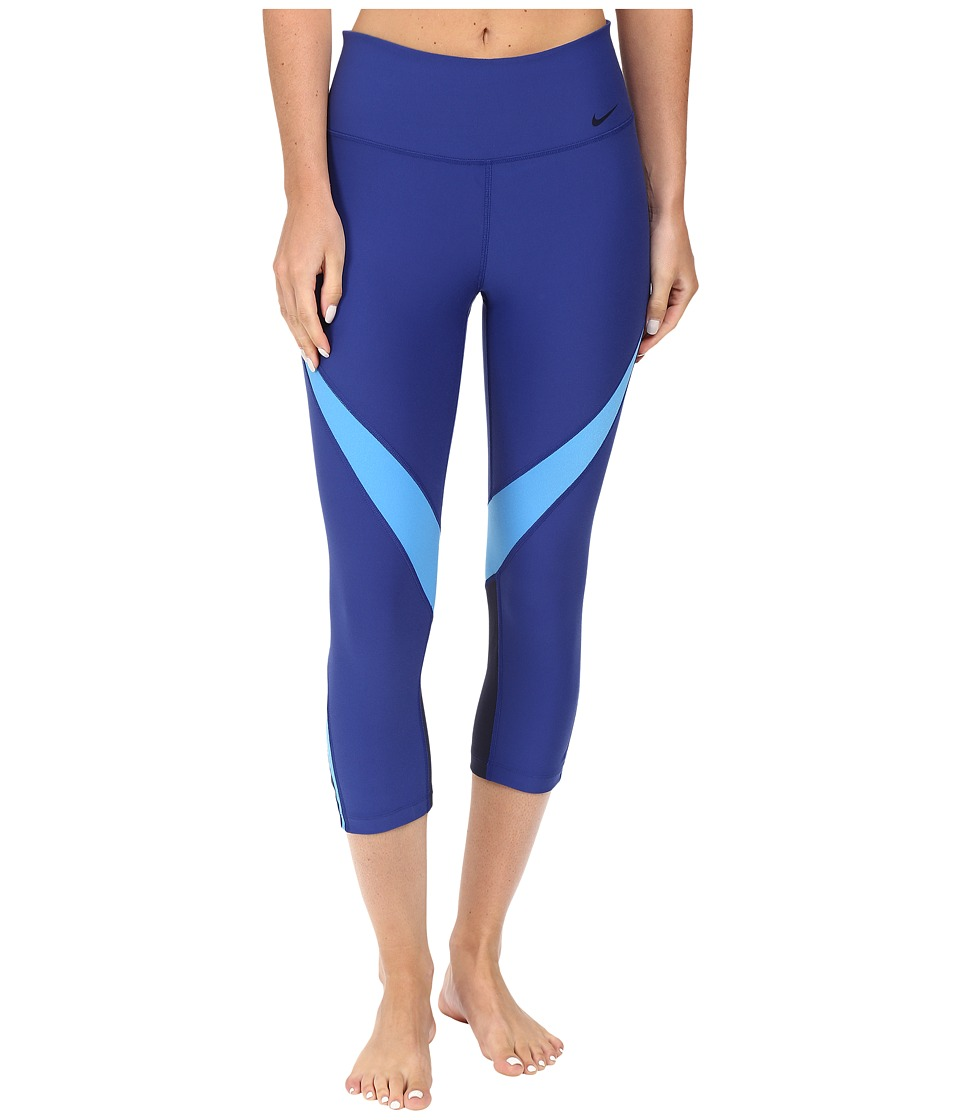 Nike - Power Legend Graphic Training Capri (Deep Royal Blue/Light Photo Blue/Black) Women's Capri