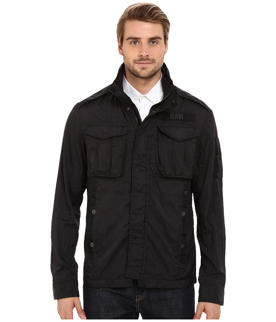 G-Star - Rovic Long Sleeve Overshirt in Myrow Nylon (Black) Men's Clothing