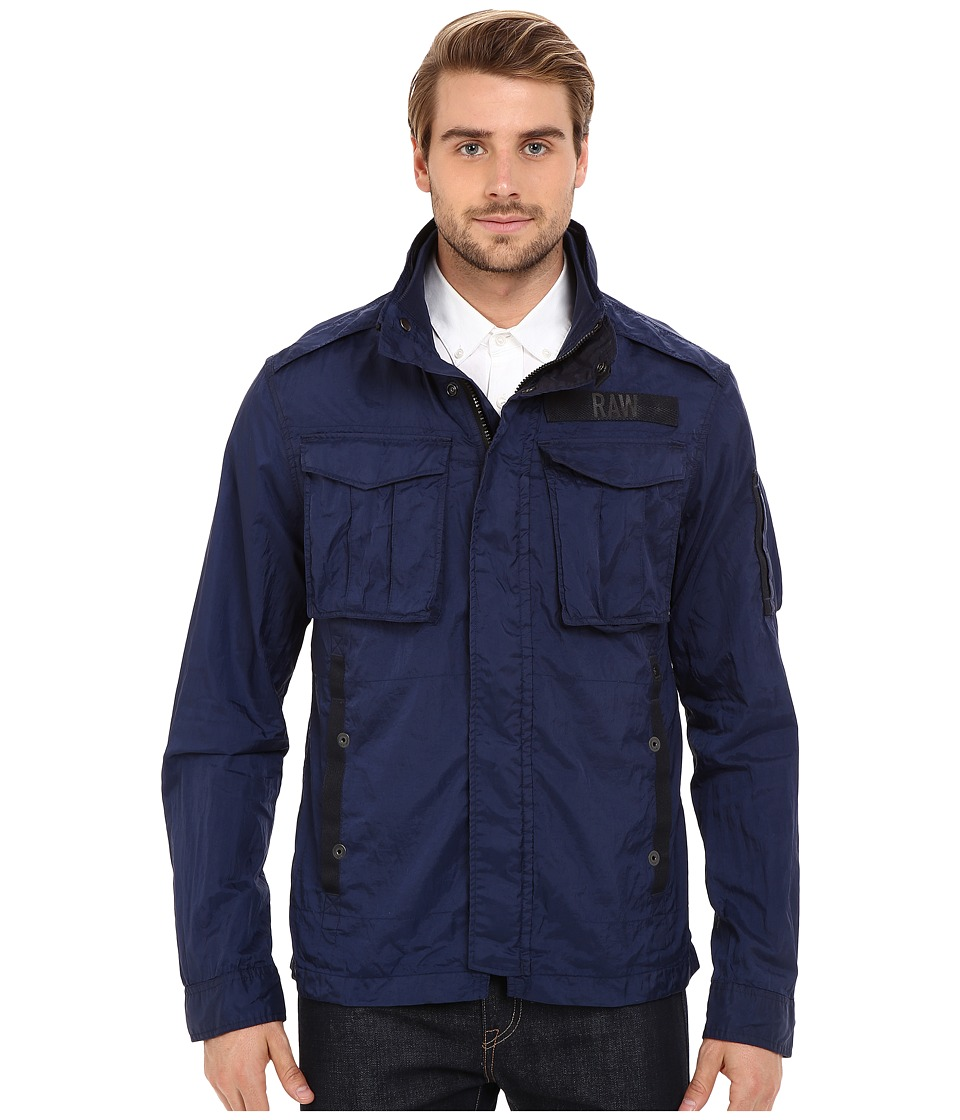G-Star - Rovic Long Sleeve Overshirt in Myrow Nylon (Sapphire Blue) Men's Clothing