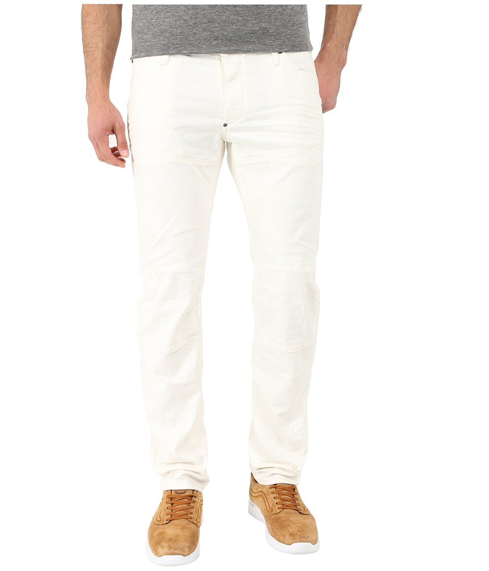 G-Star - 5620 3D Low Tapered Bike Denim in Inza White Superstretch 3D Aged (Inza White Superstretch 3D Aged) Men's Jeans