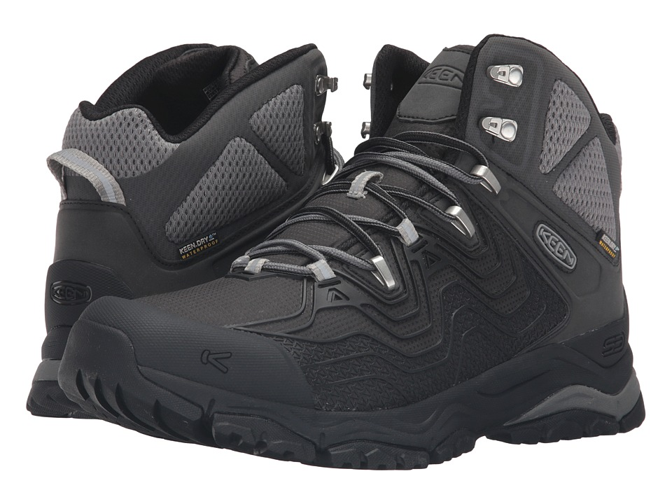Keen - Aphlex Mid Waterproof (Black/Black) Men's Waterproof Boots