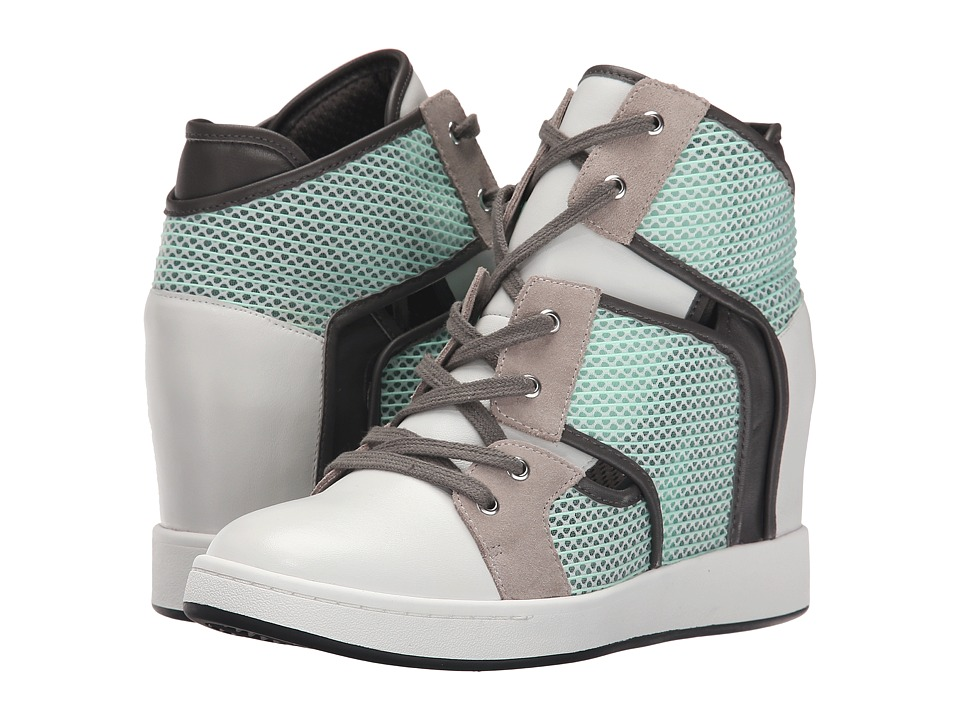 L.A.M.B. Gera (White/Mint/Grey) Women