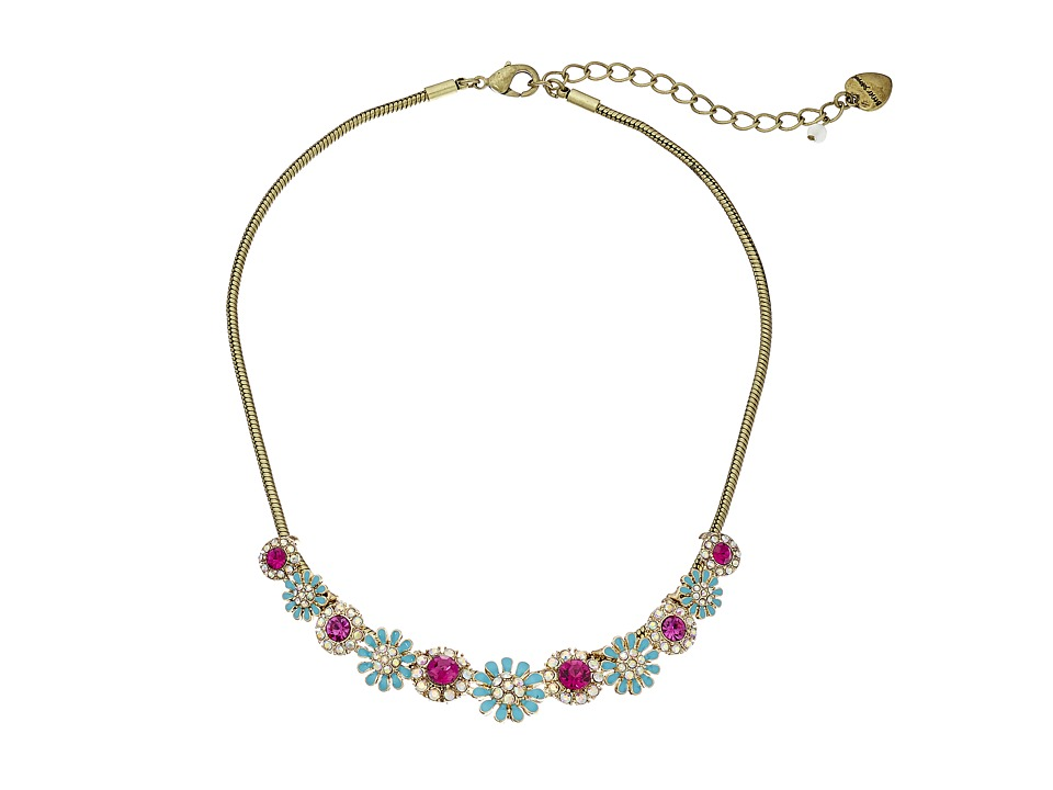 Betsey Johnson - Boho Betsey Mini Satement Necklace (Multi) Necklace