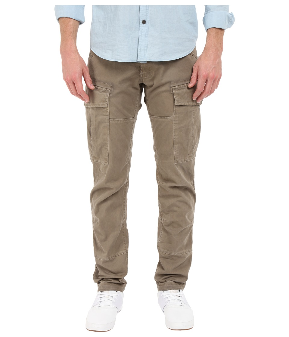 G-Star - Rovic Slim Cargo in Micro Stretch Twill Overdye (Dune/Oak) Men's Jeans