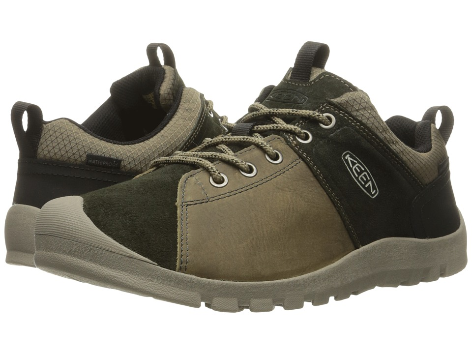 Keen - Citizen Keen Low Waterproof (Brindle/Warm Olive) Men's Waterproof Boots