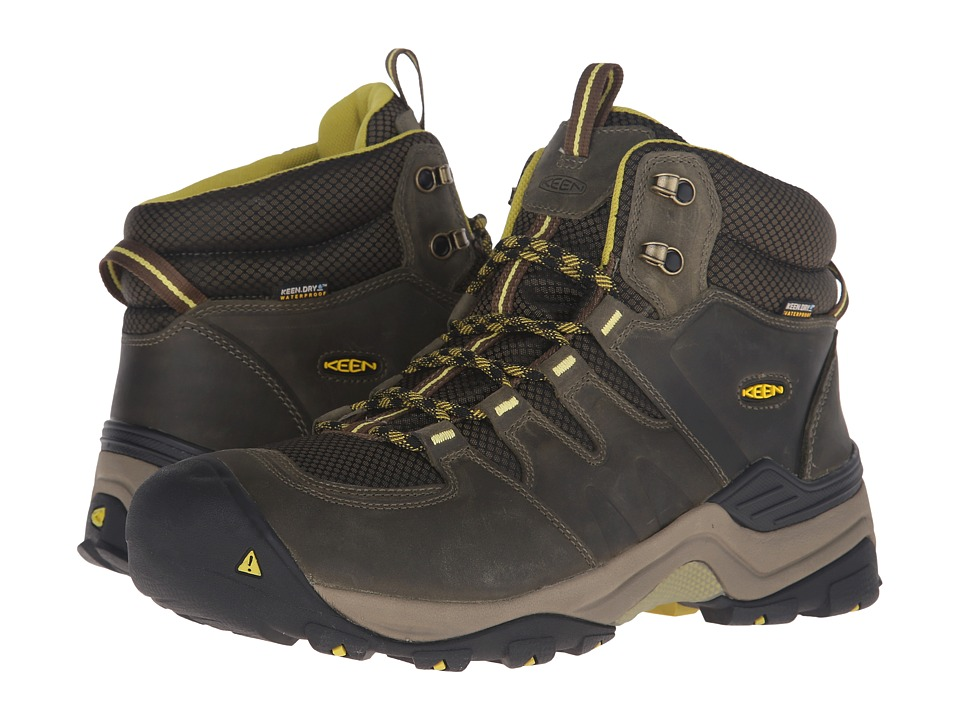 Keen - Gypsum II Mid Waterproof (Forest Night/Warm Olive) Men's Waterproof Boots