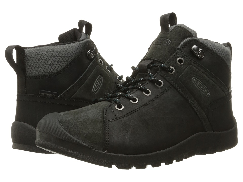 Keen - Citizen Keen Mid Waterproof (Black) Men's Waterproof Boots