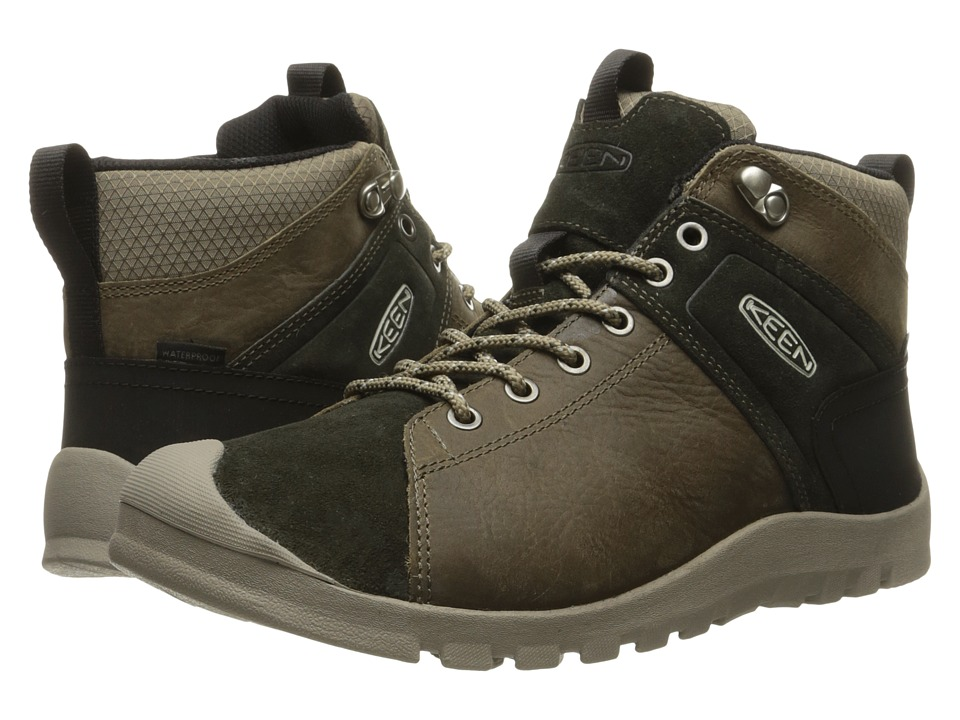 Keen - Citizen Keen Mid Waterproof (Brindle/Warm Olive) Men's Waterproof Boots