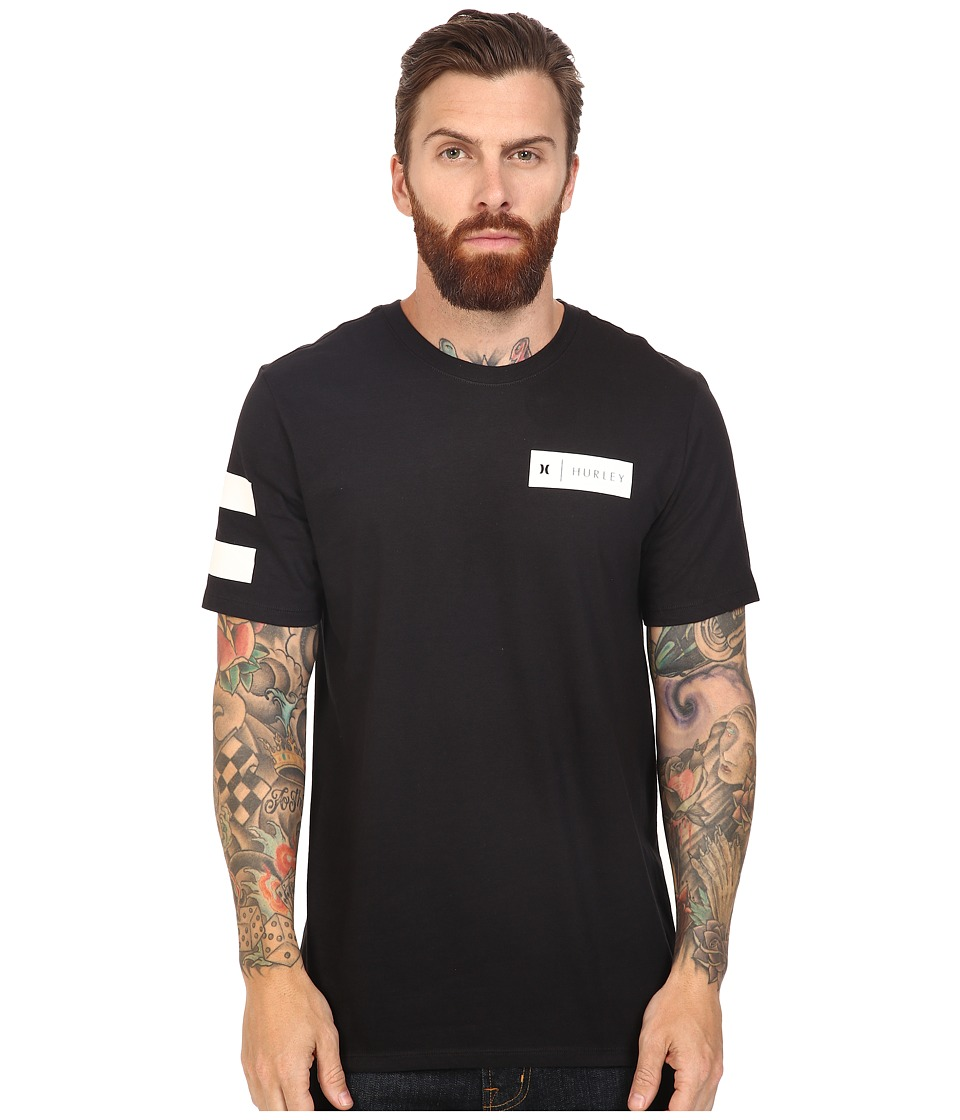 Hurley - Badge Party Tee (Black) Men's T Shirt