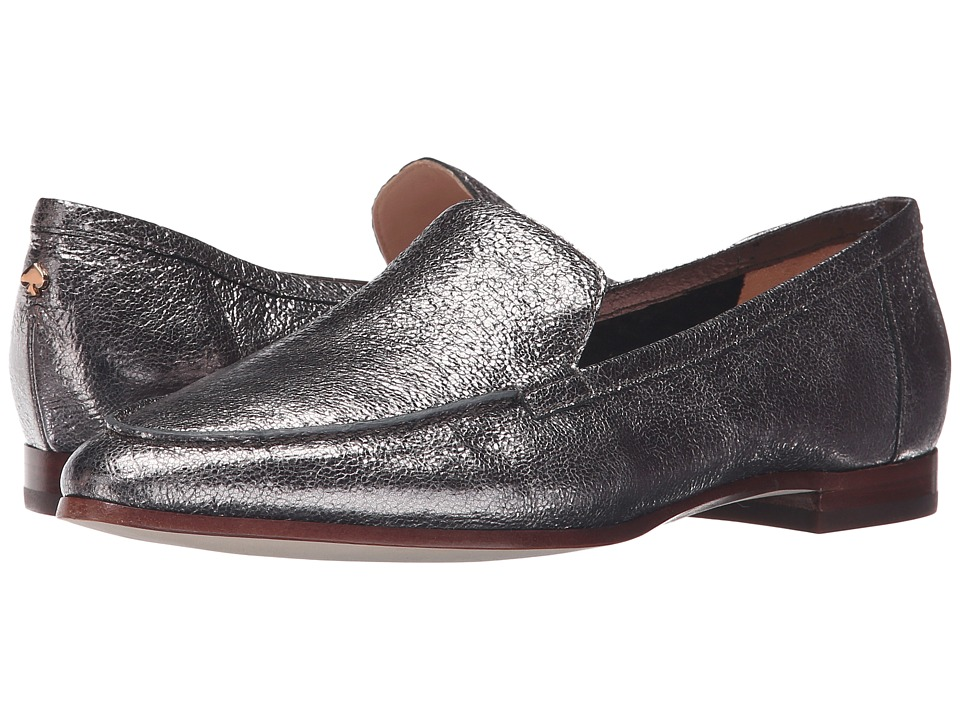 Kate Spade New York Carima Anthracite Crackled Metallic Nappa Slip on Shoes
