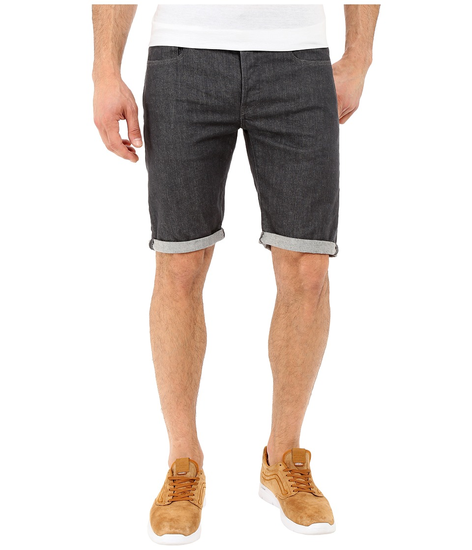 G-Star - 3301 Deconstructed Shorts in Accel Grey Stretch Denim Rinsed (Accel Grey Stretch Denim Rinsed) Men's Shorts