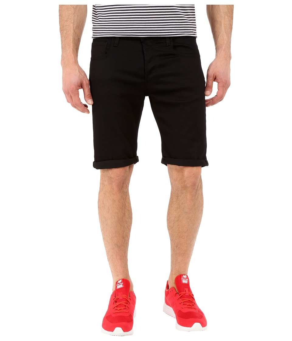 G-Star - 3301 Deconstructed Shorts in Cilex Black Superstretch Rinsed (Cilex Black Superstretch Rinsed) Men's Shorts