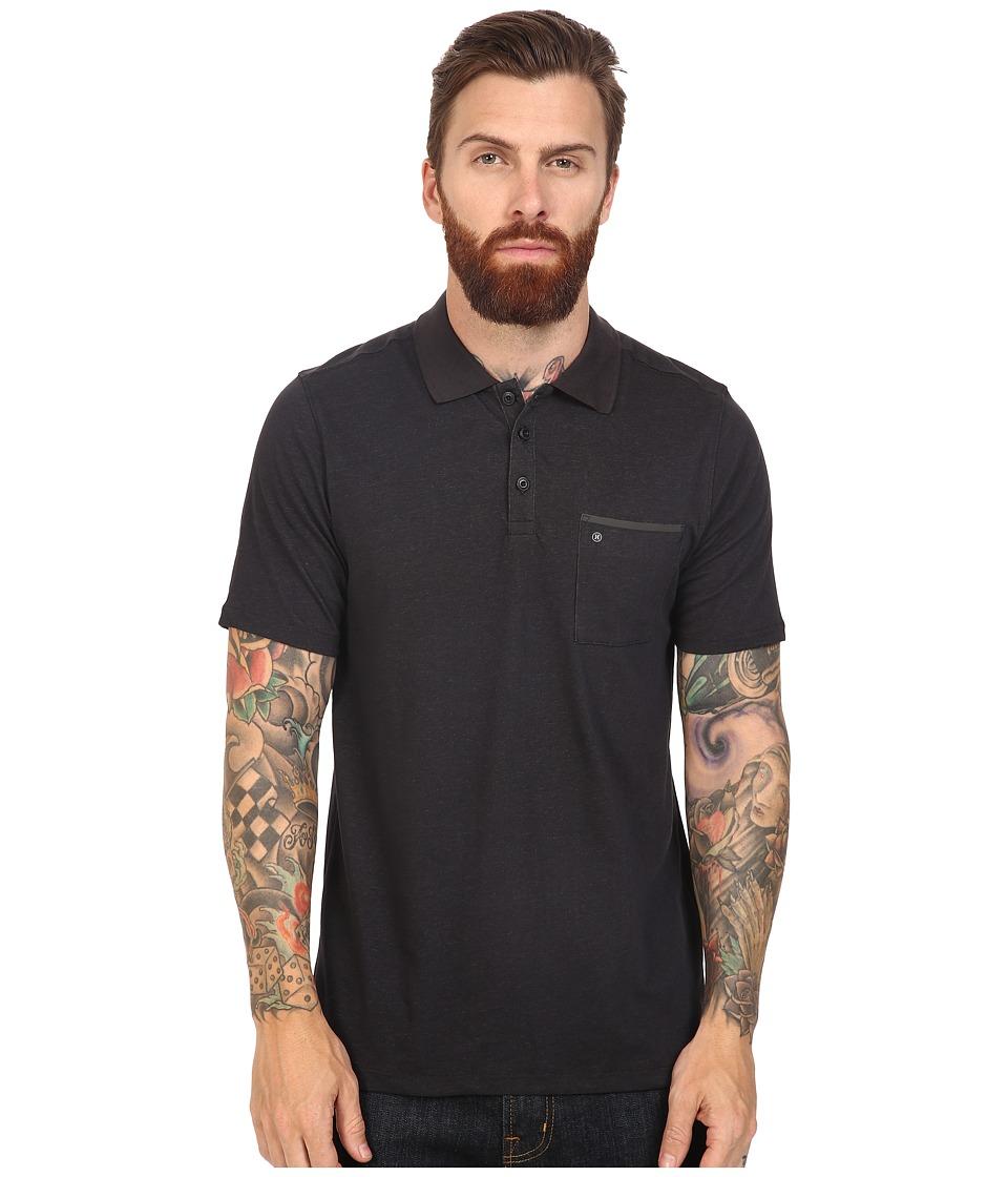 Hurley - Dri-Fit Lagos Polo (Black 1) Men's Clothing
