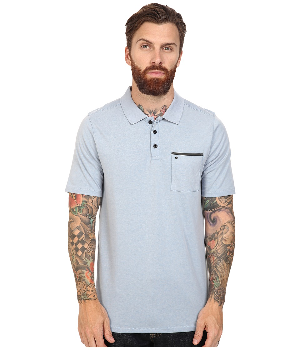 Hurley - Dri-Fit Lagos Polo (Wolf Grey 1) Men's Clothing